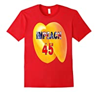 Impeach 45 Premium T Shirt Red