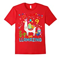 I Am 9 Years Old Zing Cute 9th Birthday Gift T-shirt Red