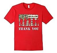 Thank You Veteran Dad Grandpa Veterans Day Gif Shirts Red