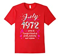 1972 47th Birthday Gift 47 Years Old Shirts Red