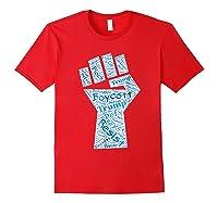Resist Fist Anti Trump Boycott Impeach Trump T Shirt Red