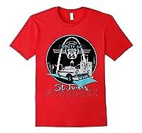 Saint Louis Missouri Route 66 Iconic Gateway Arch Souvenir T-shirt Red