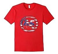 Impeach 45 Flag Themed Anti Trump Impeach Trump Shirt Red