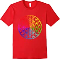 Blume Des Lebens Heilige Geometrie Spirituell Zen Yoga T-shirt Red