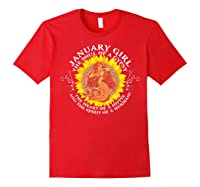 January Girl The Soul Of A Mermaid Tshirt Birthday Gifts Red