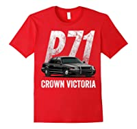 Police Car Crown Victoria P71 Shirt Red