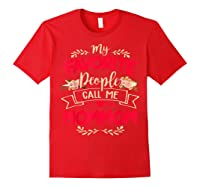 My Favorite People Call Me Mommom Mothers Day Gift T Shirt Red