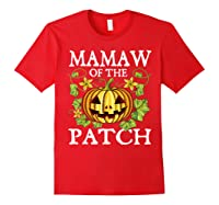 Mamaw Of The Patch Pumpkin Halloween Costume Gift Shirts Red