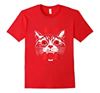 I Will Eat Your Soul Satanic Cat Spooky Halloween T Shirt Red