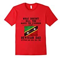 Saint Kitts Nevis Dad Gifts For Fathers Day Tank Top Shirts Red
