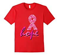 Hope Pink Ribbon Breast Cancer Awareness Month T Shirt Red
