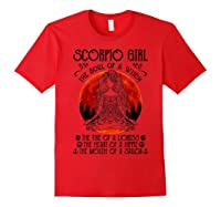 Scorpio Girl The Soul Of A Witch Tshirt Halloween Gift Red