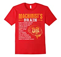 Funny Machinist Gifts Machinist S Brain Shirts Red