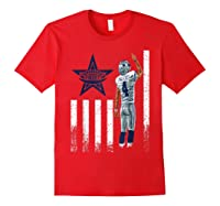 Cow Nation Of Legends American Flag For T Shirt Red