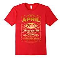 April 2010 Vintage 9th Birthday 9 Years Old Gift Shirt Red