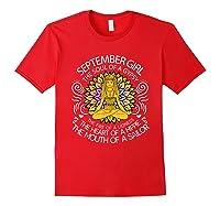 September Birthday September Girl The Soul Of A Gypsy Tshirt Red