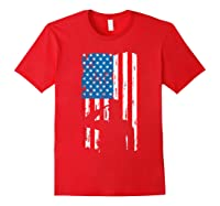 Veteran S Day Patriotic Usa Flag We Salute You Veterans T Shirt Red