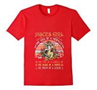 Pisces Girl The Soul Of A Mermaid Vintage Birthday Gift Shirts Red