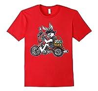 Easter Bunny Motorcycle Tshirt Biker Gifts Braap T-shirt Red