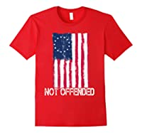 Betsy Ross American Flag Tshirt With 13 Stars For Protesters Red
