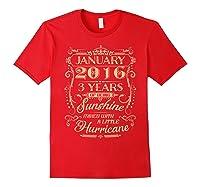 August 2016 - 3 Years Of Being Sunshine Birthday Shirt Red