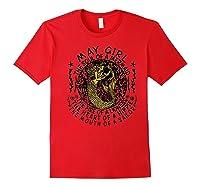 May Girl The Soul Of A Mermaid Tshirt Birthday Gifts Premium T Shirt Red