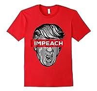 Trump Impeach Not My President T Shirt Red