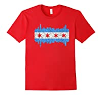City Of Chicago Shirt Chicago City Vintage Flag Premium T Shirt Red