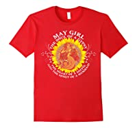 May Girl The Soul Of A Mermaid Tshirt Birthday Gifts Red