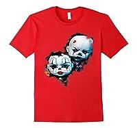 Creepy Evil Clown Halloween T-shirt Red