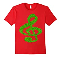 Music Note Shamrock Funny St Saint Patrick S Day T Shirt Red