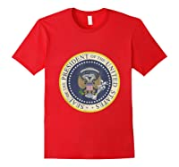 Fake Presidential Seal 45 Es Un Titere Puppet Trump Shirts Red