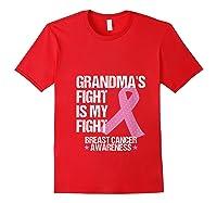 Breast Cancer Awareness Month Grandmas Fight Grandma Gift T Shirt Red