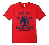 Vintage Bear Colorado Rocky Mountain National Park Shirts Red