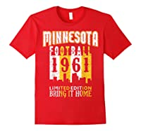 Minnesota 1961 Skyline Throwback Football Shirts Red