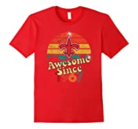 Vintage Saints Awesome Since 1967 New Orleans Football Retro Shirts Red