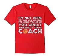 Funny Basketball Coach Shirt   Coaches Tshirt Gift Idea Red
