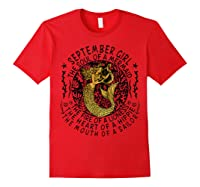 September Girl The Soul Of A Mermaid Tshirt Funny Gift T Shirt Red