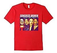 Congress Aoc Rashida Ayanna Ilhan Pop Art The Squad Premium T-shirt Red