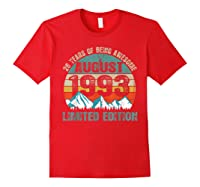 Born August 26 Limited Edition Bday Gift 26th Birthday Shirts Red