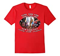 Times Square New York City Visit Shirts Red