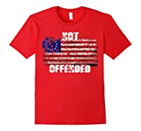 Not Offended B Ross American Flag Shirts Red