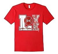 Yadier Molina Love Block T-shirt - Apparel Red