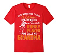 My Favorite Rugby Player Calls Me Grandma Gift For Nana Shirts Red