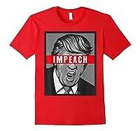 Impeach Trump Not My President Tshirts Red