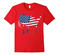B Ross 1776 American Flag Eagle 4th Of July Shirts Red