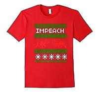 Impeach Christmas T Shirt Anti Trump Tee Red