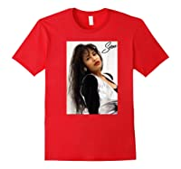 Selenas Vintage Distressed Classic Shirts Red