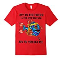 Joy To Fishes In Deep Blue Sea Hippie Shirts Red