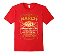 March 1997 Vintage 22nd Birthday 22 Years Old Gif Shirts Red